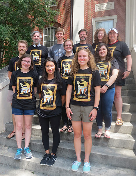 Summer Institute Students on Steps tee-shirts