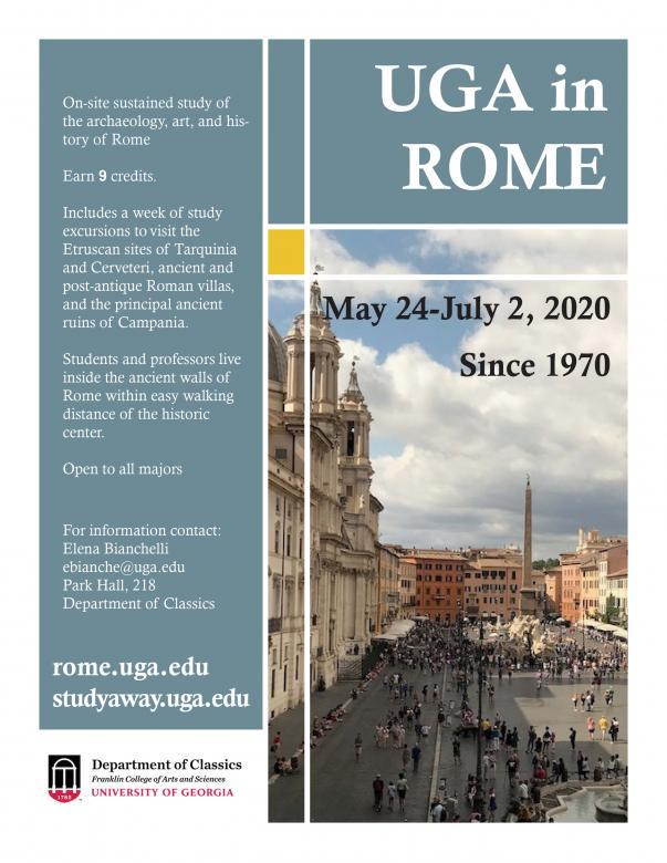 UGA in Rome Study Abroad poster