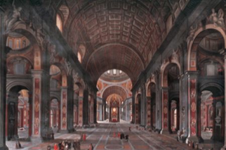 Painting by George Cooke Interior of St. Peter's: work located in the UGA Chapel