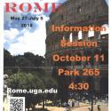 Poster for Study Abroad in Rome Information Session